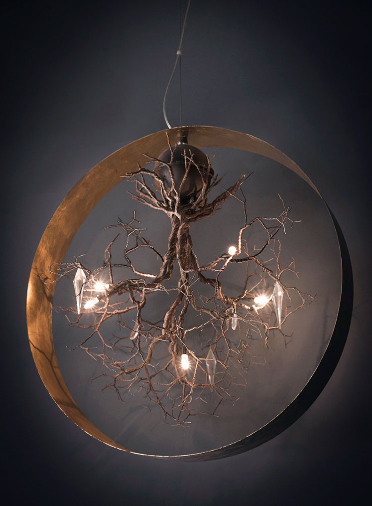 Roots in Circle Large - Ceiling‎ Light fixture